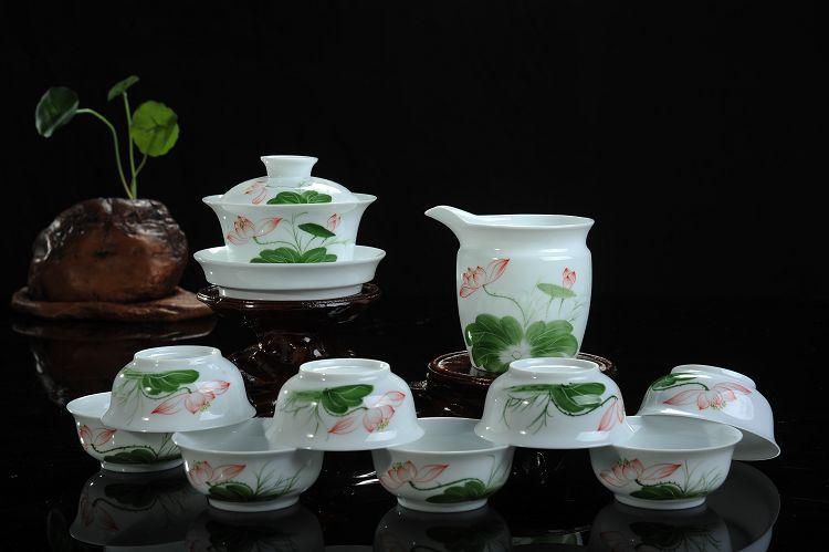 厂家批发陶瓷茶具套装/手绘茶具/德化陶瓷/功夫茶具/高档礼品陶瓷