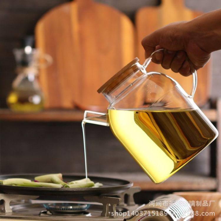 高硼硅玻璃大号油壶酱油醋瓶厨房防腐蚀调料瓶橄榄油无铅新品1・6