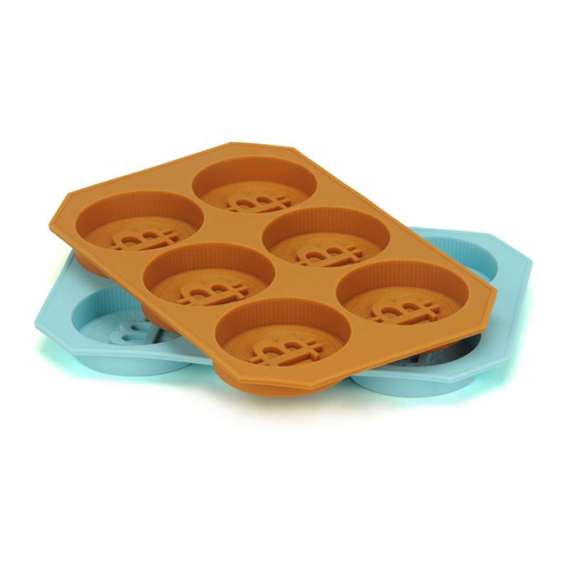 Bitcoin 金币创意纪念币冰格 巧克力模具 DIY烘焙徽章慕斯模具