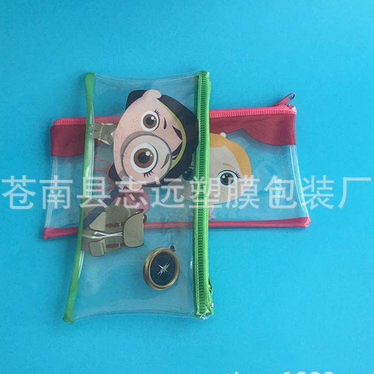 厂家直销各类pvc卡通笔袋 pvc拉链袋 pvc文具袋 pvc铅笔袋
