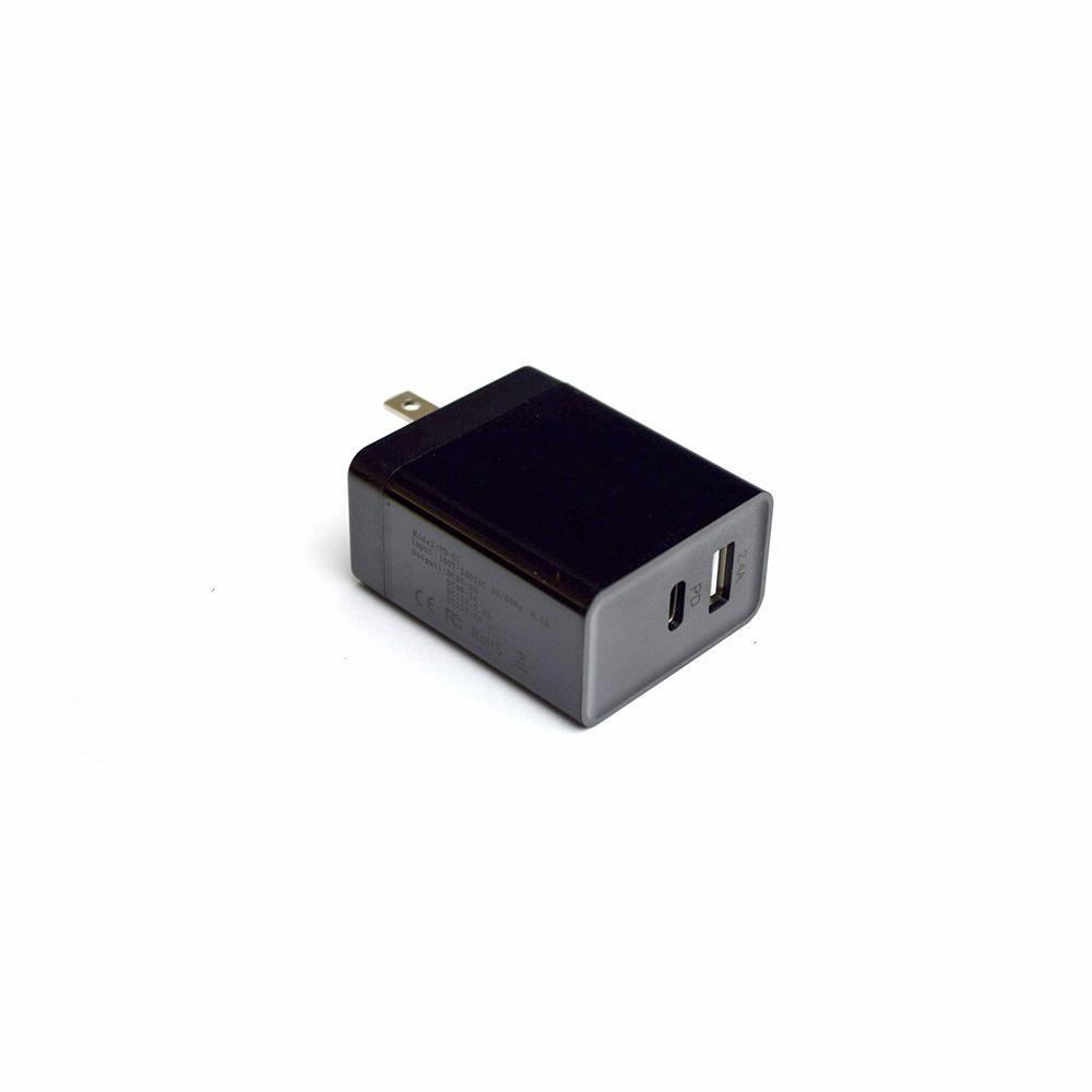 PD黑色充电器 Macbook快速TYPE-C适配器 29WPD协议USB-C适配器