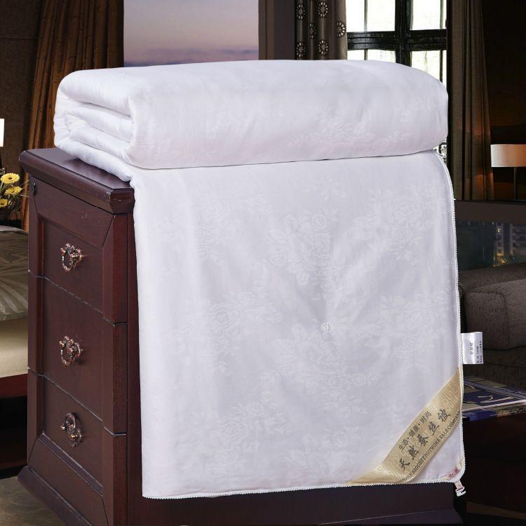 厂家直销全棉60S贡缎桑蚕丝被子加厚子母被芯床上用品冬被批发