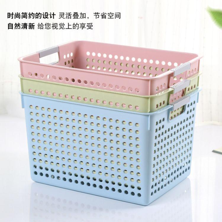 厨房日常家居收纳筐 时尚镂空收纳筐桌面小篮子收纳盒批发