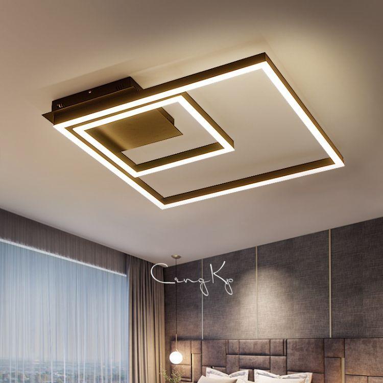简约现代客厅灯方形 led吸顶灯卧室灯具创意办公灯铁艺工业风灯饰