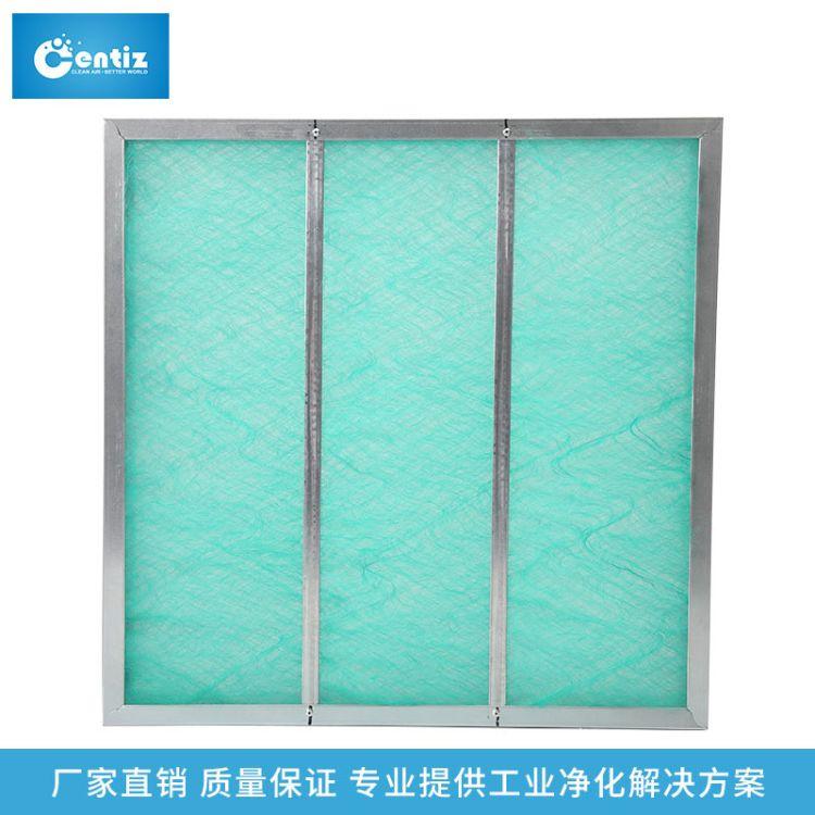 初效 玻纤网阻漆雾毡过滤器 耐高温铝合金预过滤板式过滤网