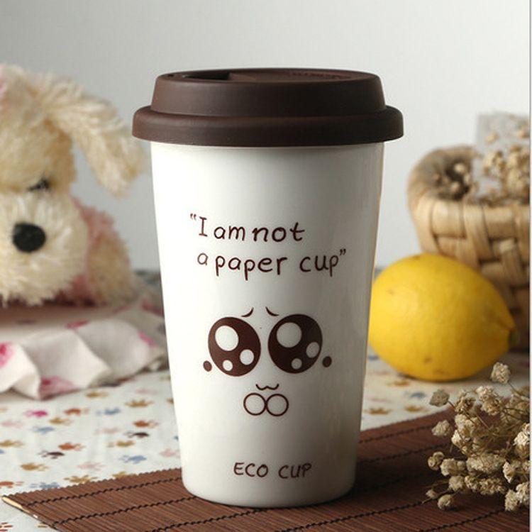 带盖咖啡杯厂家直销卡通陶瓷马克杯双层杯礼品logo定制陶瓷杯