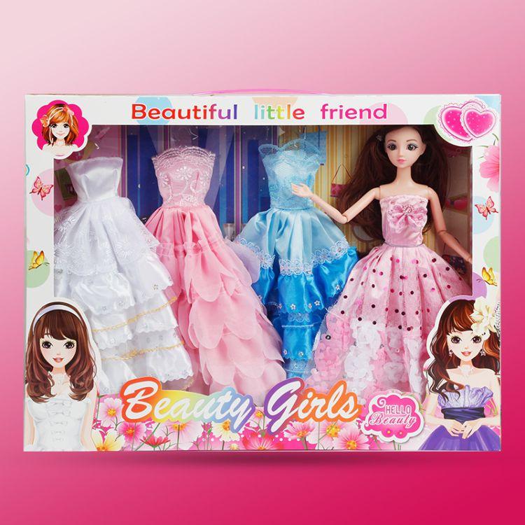 仿真娃娃玩具女孩公主洋娃娃换装公主娃娃儿童玩具别墅城堡套装