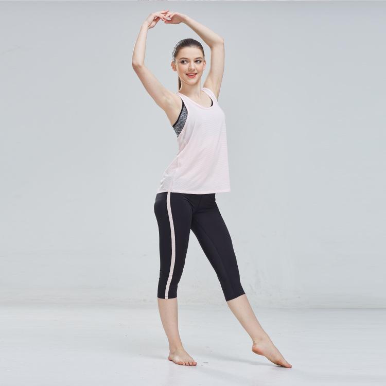 夏季新款瑜伽服女套装 健身跑步瑜伽背心套装 透气速干瑜伽两件套