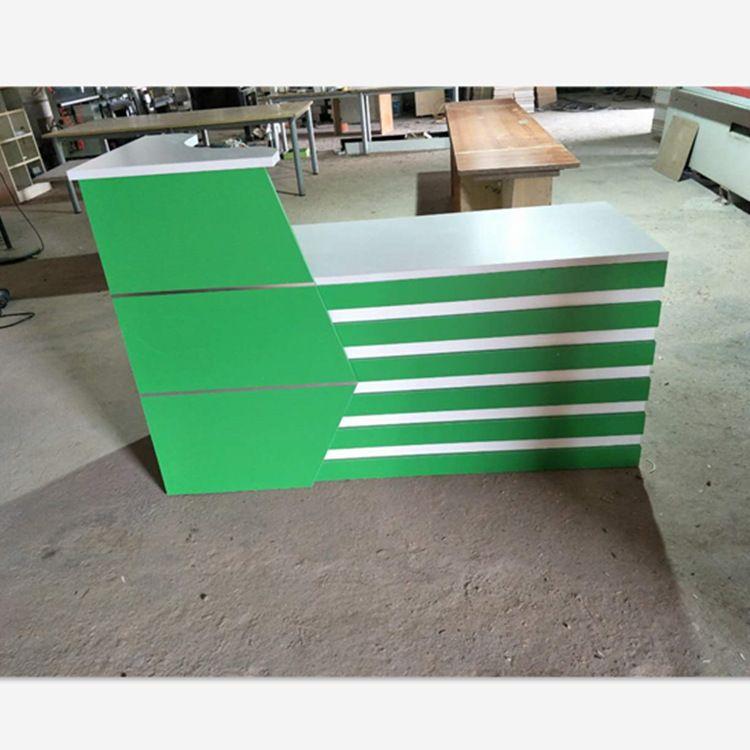 厂家定制前台 公司接待台 咨询服务台烤漆迎宾台 板式前台