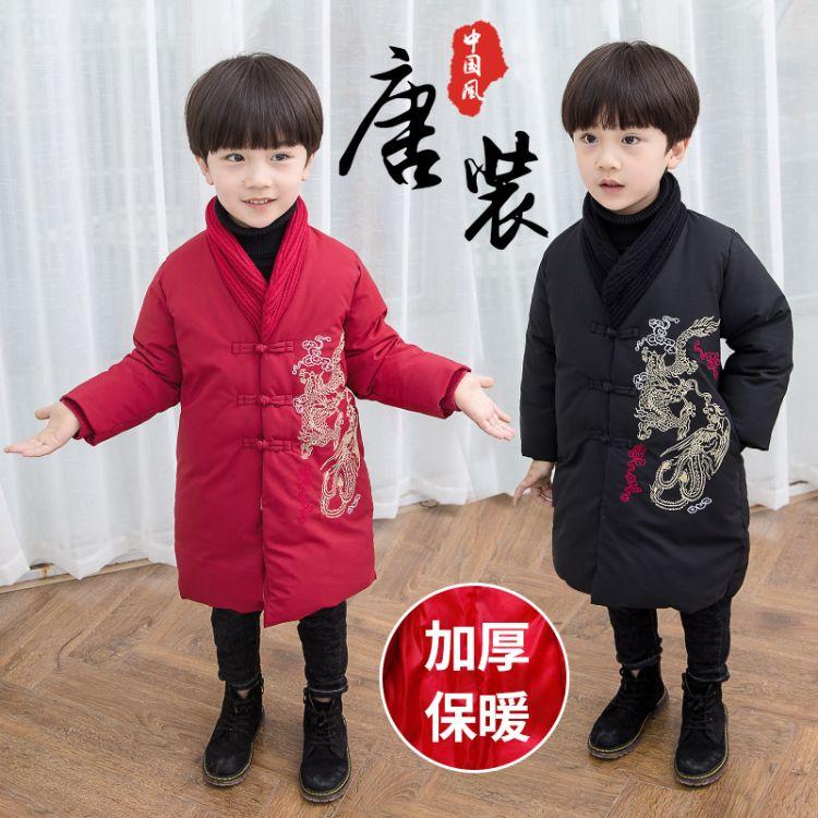 儿童唐装年服2018新款冬装过年男童古装棉衣宝宝拜年服中国风童装