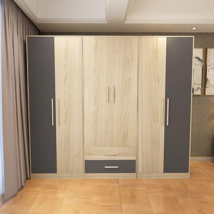 乔帝衣柜衣橱柜子简约衣柜组装木板衣柜木质衣橱板式衣柜大柜家具