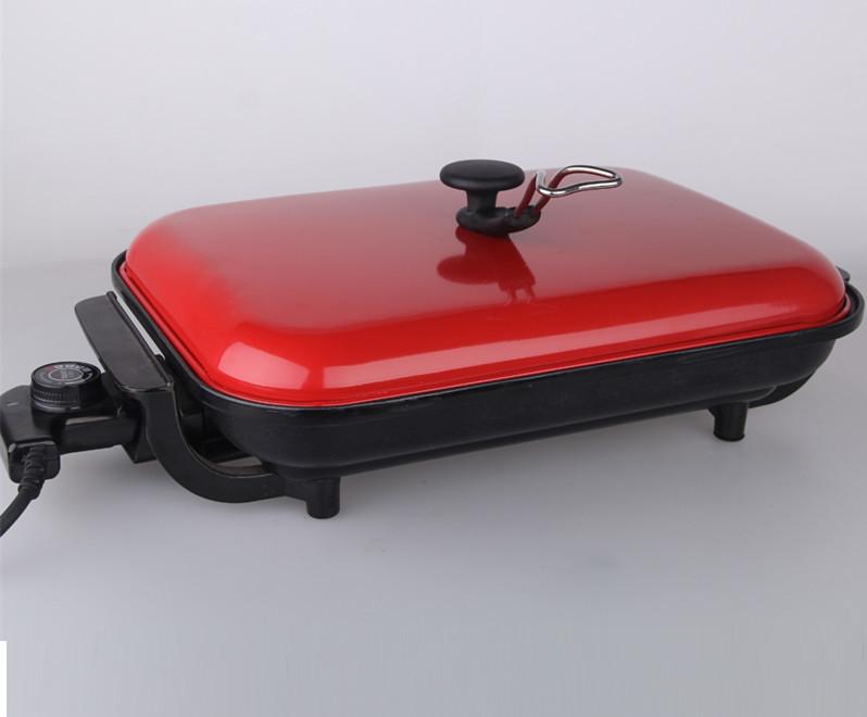 家用电烤炉红盖无烟电烧烤炉韩式排油不粘烧烤盘烤肉机诸葛烤鱼盘