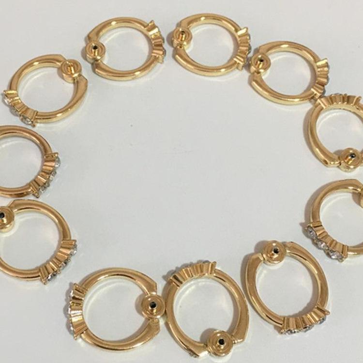 厂家批发手机指环支架 金属带钻指环扣配件 背贴指环支架配件