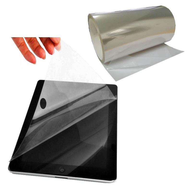 现货免费加工耐高温保护膜 可印刷无残胶气泡透明硅胶PET保护膜