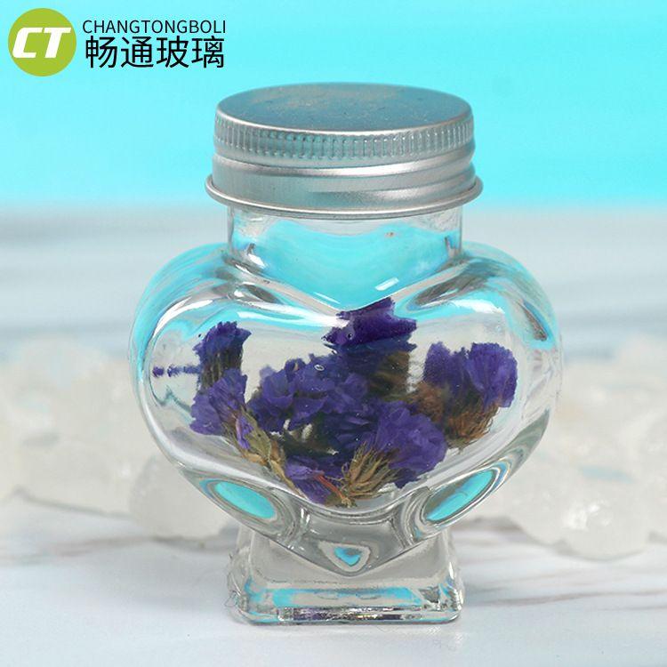 爱心许愿玻璃瓶星星玻璃瓶手工糖果玻璃罐漂流瓶厂家直销