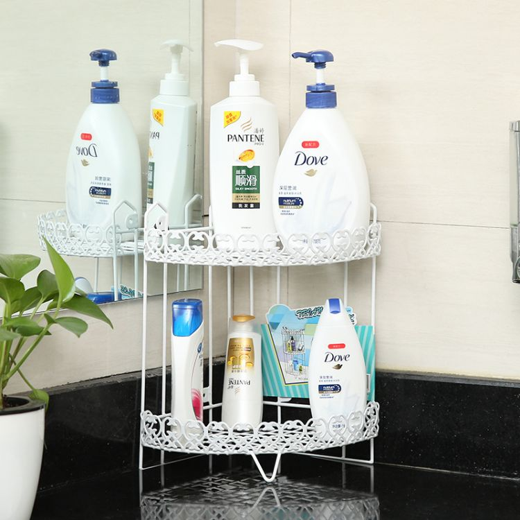 厂家批发铁艺层架 塑料厨房杂物架 浴室置物架卫生间三角挂架