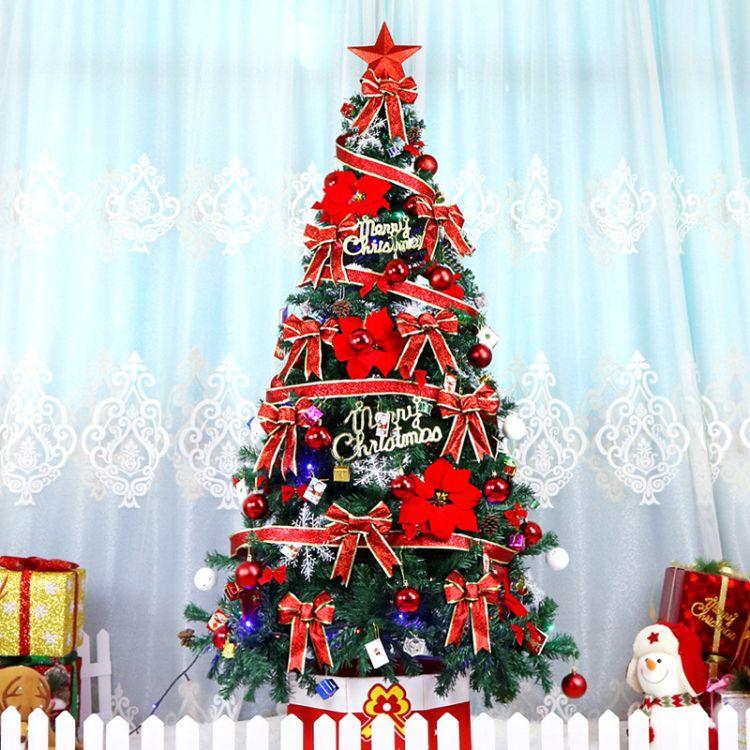 圣诞树套餐1.5、1.8、2.1米豪华大型圣诞树加密发光商场酒店装饰