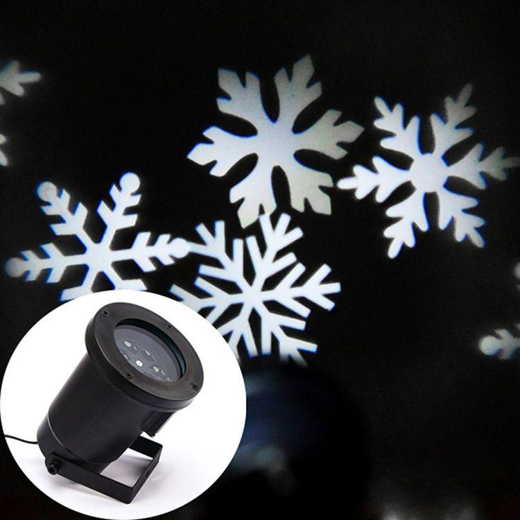 白色圣诞雪花投影灯 圣诞激光投影灯 led星空投影灯 小舞台灯