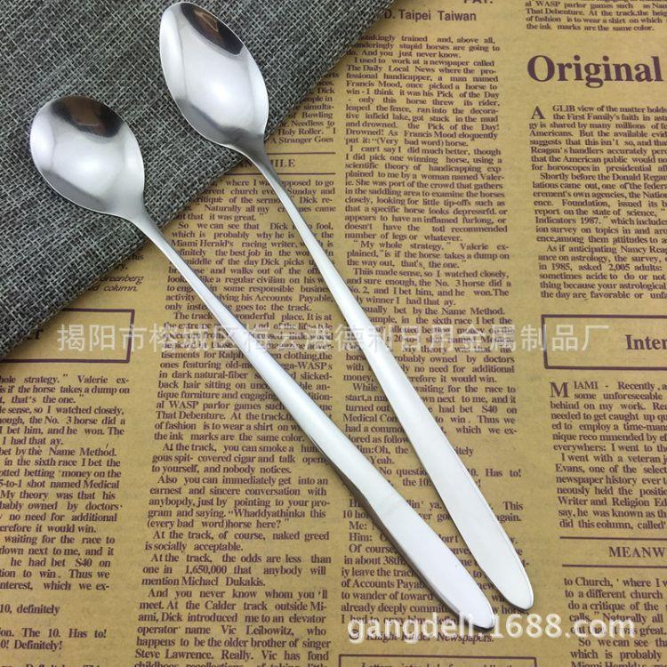 长柄冰勺 不锈钢餐具 创意咖啡勺 搅拌勺 杯赠品勺子 定制logo