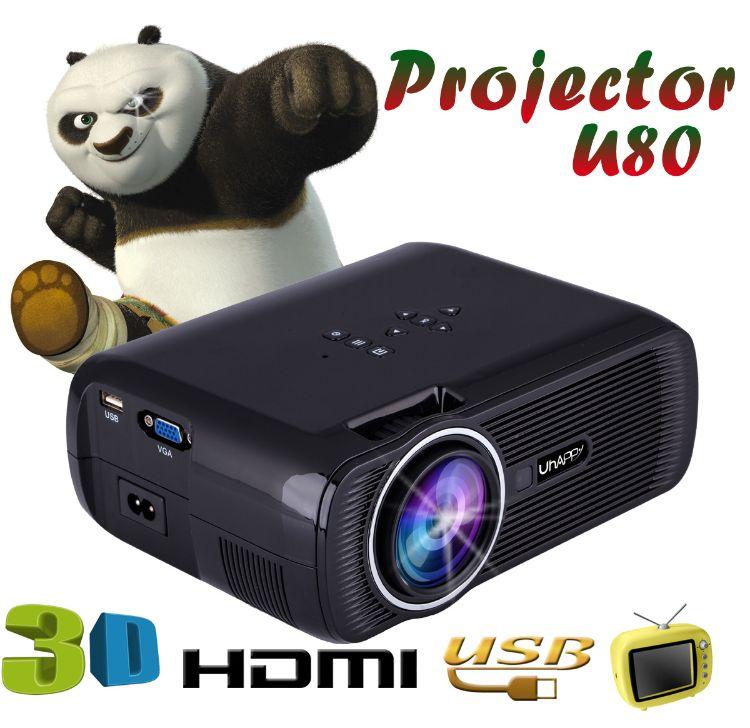 UHAPPY U80 迷你mini 家用LED投影机投影仪