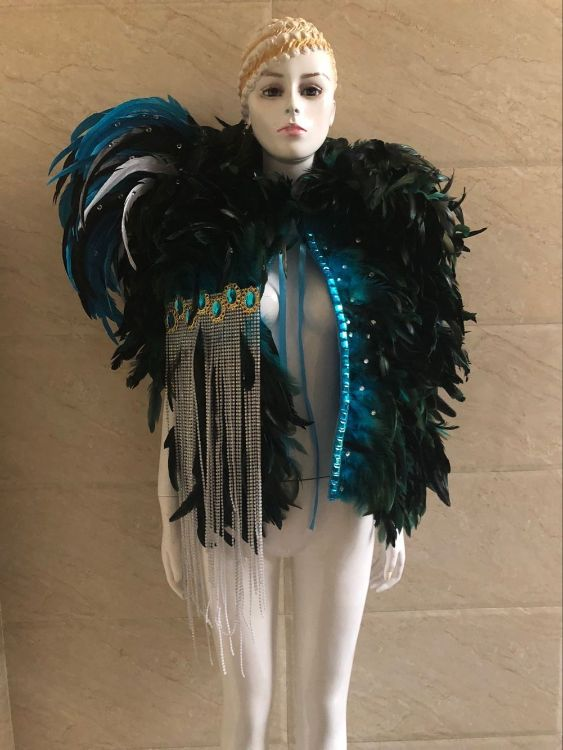 羽毛服装 演出表演服装 男士女士狂欢节桑巴舞 舞队商演 酒吧歌手