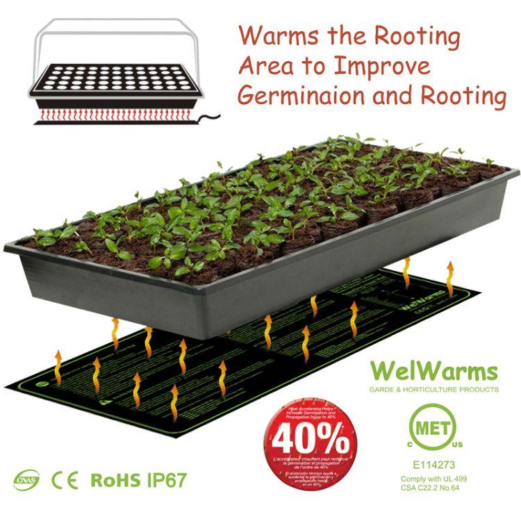 育苗加热垫花草种子发芽防水电热垫植物幼苗生长发热垫MET认证