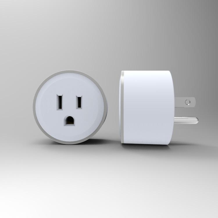 发光wifi智能插座LEDled插座alexa语音插座