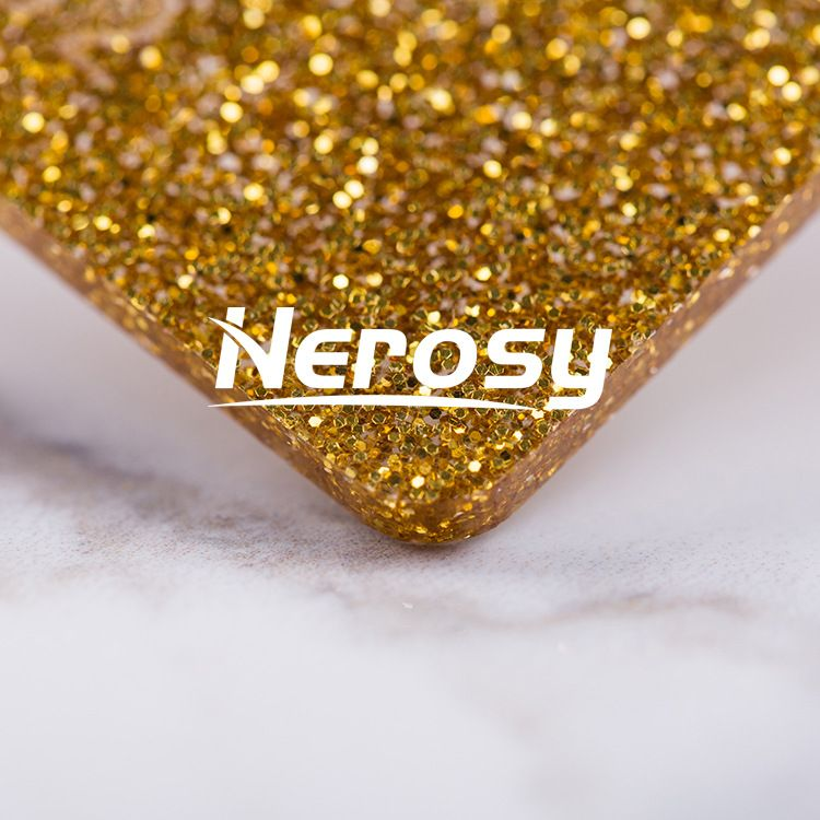 厂家直销金色塑料板葱粉有机玻璃板闪亮金银玫瑰金细粉�嚎肆Π�