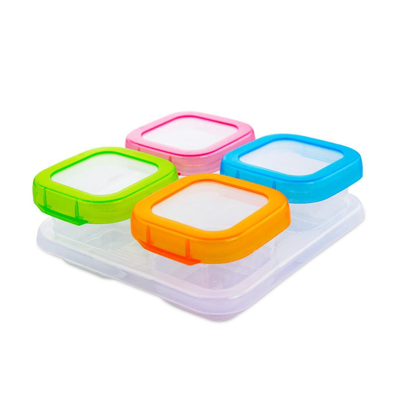 宝宝塑料辅食盒婴儿便携奶粉盒储存盒塑料小保鲜盒冷冻密封盒套装