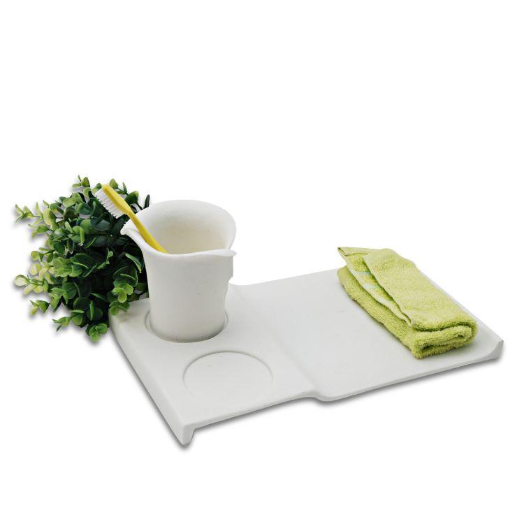 欧式卫浴洗漱用品套装浴室卫生间用具刷牙杯牙具陶瓷托盘套件