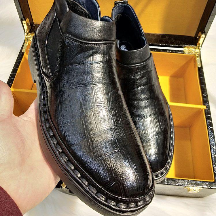 冬季男靴子男士马丁靴皮靴中帮棉靴军靴高帮棉鞋加绒保暖雪地短靴