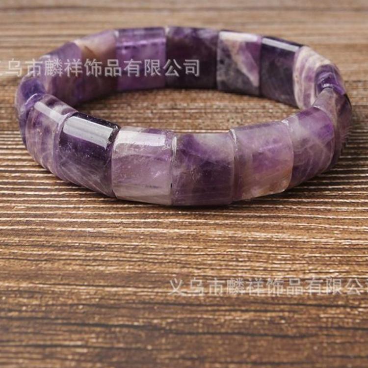 天然水晶手链 紫水晶手串 虎眼石 月光石 红纹石手串批发厂家直销