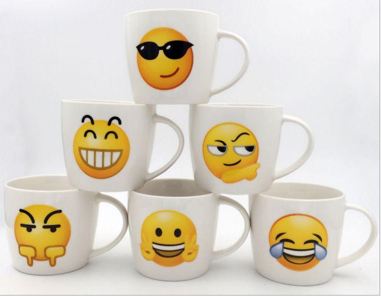 迈和陶瓷时尚表情马克杯定制LOGO陶瓷杯礼品套装茶水杯咖啡杯