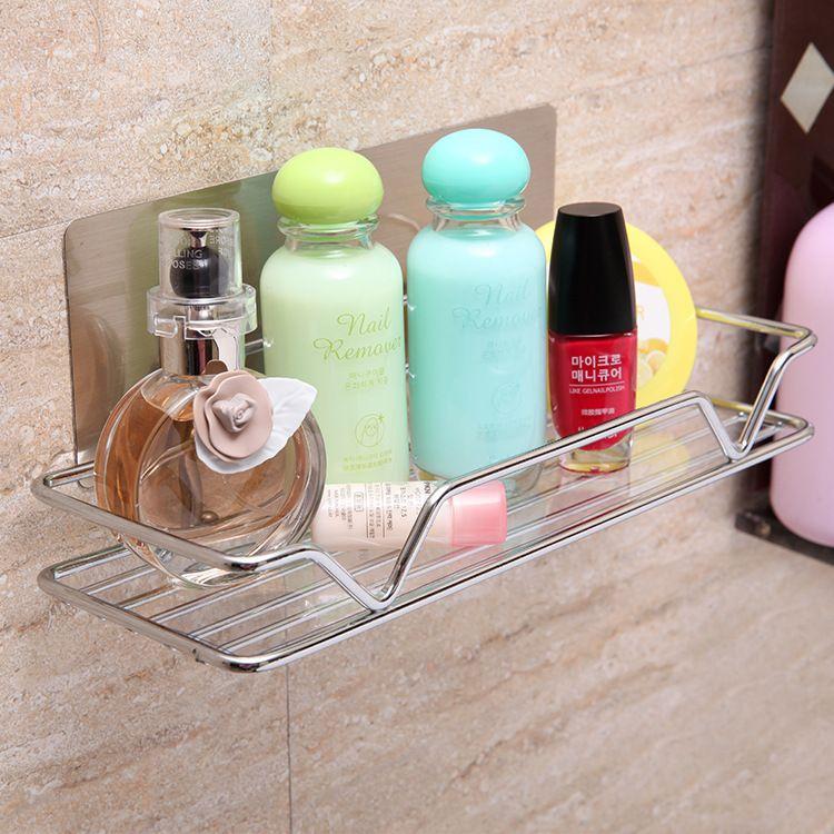 卫生间置物架壁挂浴室壁挂式厕所收纳粘贴化妆品收纳架厨房置物架