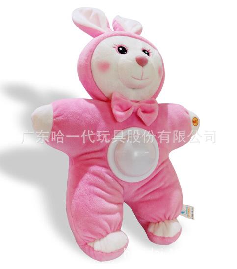 爆款抖音玩具兔子帽子皮卡丘毛绒玩具一捏会动的搞怪气囊帽子礼物