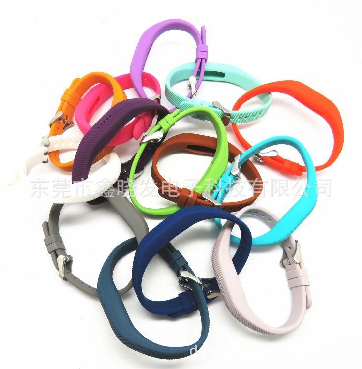 适用于Fitbit flex2智能手环硅胶表带金属扣硅胶表带运动款手表带