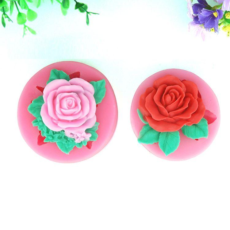 玫瑰花模具 糖艺模具 翻糖模 盐雕模 巧克力模 盘式玫瑰花模具