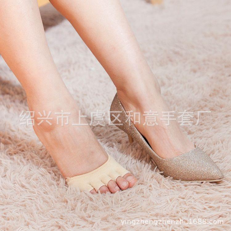 厂家批发隐形半指瑜伽袜子女士袜套 半指瑜伽露脚趾 瑜伽袜套装