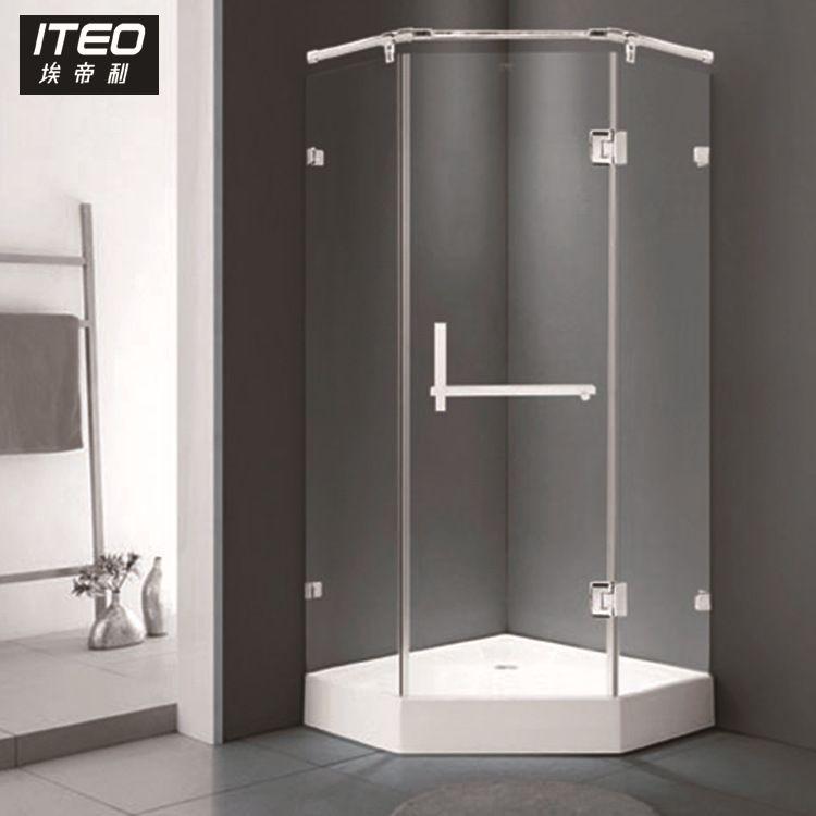 定制简易淋浴房 浴室/卫生间钻石形钢化玻璃淋浴房 XS107