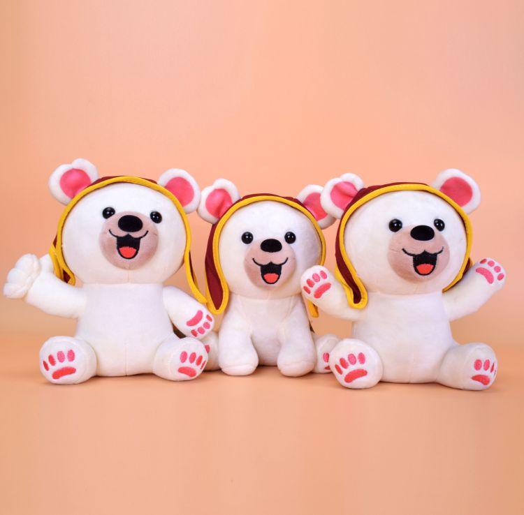 poopo小熊毛绒玩具批发20cm公仔卡通吊牌动漫玩偶萌动物毛绒玩具