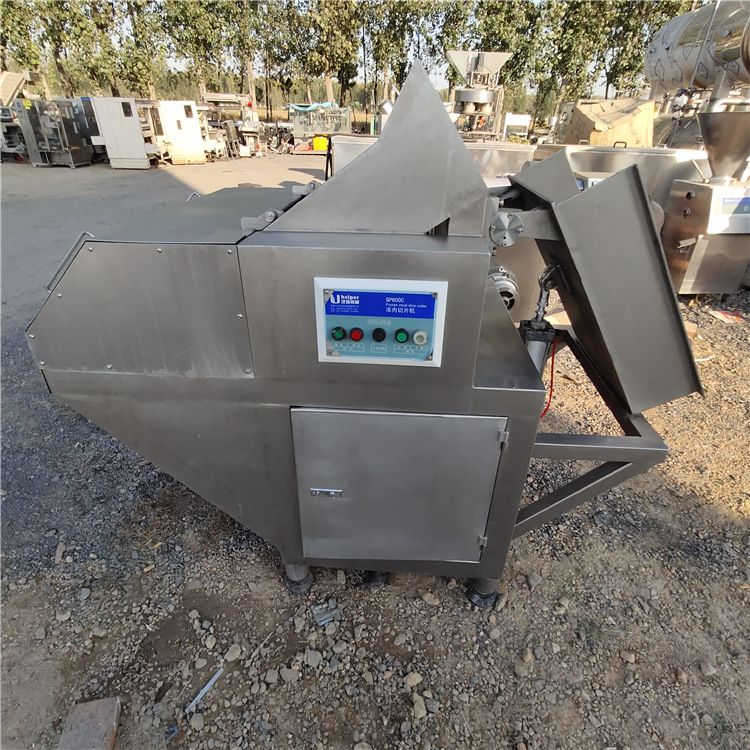 回收二手冻肉切片机 二手汉普食品机械设备转让 二手汉普全自动刨肉机 二手汉普冻肉切块机 二手汉普绞肉机