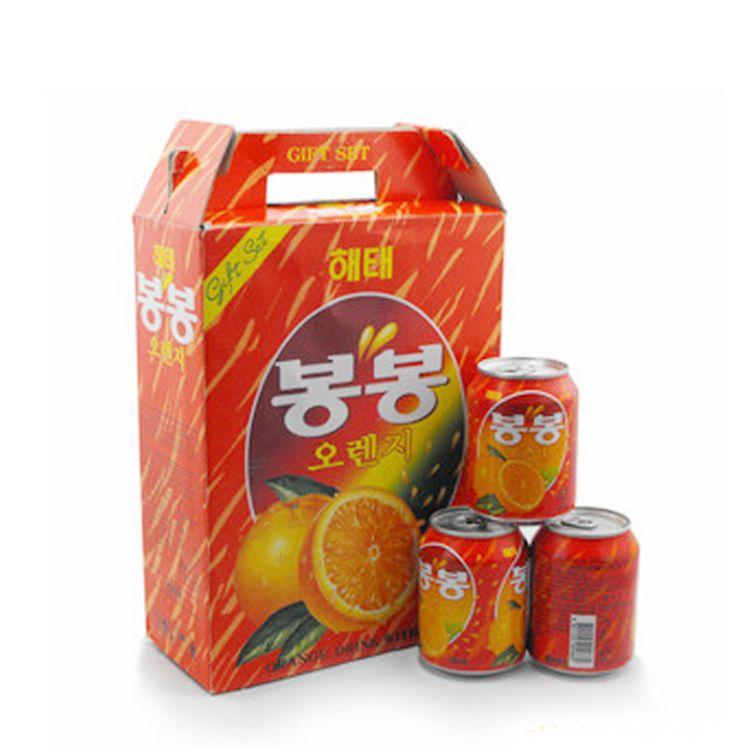 韩国原装进口饮料批发海太桔果肉果汁238ml*12瓶 进口食品批发