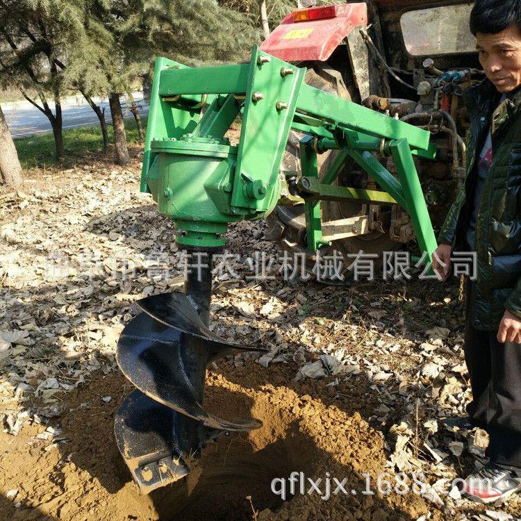 树窝机 植树打窝机 四轮拖拉机挖坑机