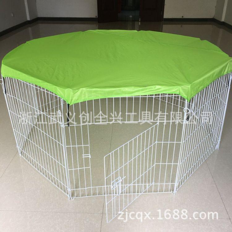 可折叠宠物围栏 铁栅栏带门款 喷塑镀锌 狗铁丝栅栏 带网盖