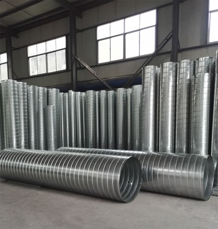 冠德厂家加工定制 新风管道 不锈钢排烟管 镀锌风管 螺旋风管