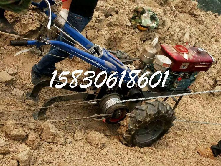 新型四驱微耕机自走式耕机汽油松土柴油耕地机小型农开沟拖拉机