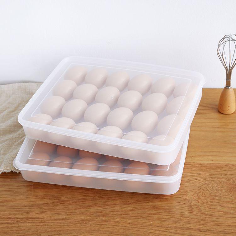 批发24格鸡蛋盒 防碰撞收纳盒冰箱收纳保鲜盒 便携式鸡蛋格蛋托