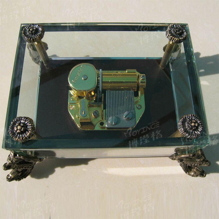 博滢格水晶龙头音乐盒 批发传递祝福水晶音乐盒 水晶钢琴批发定制