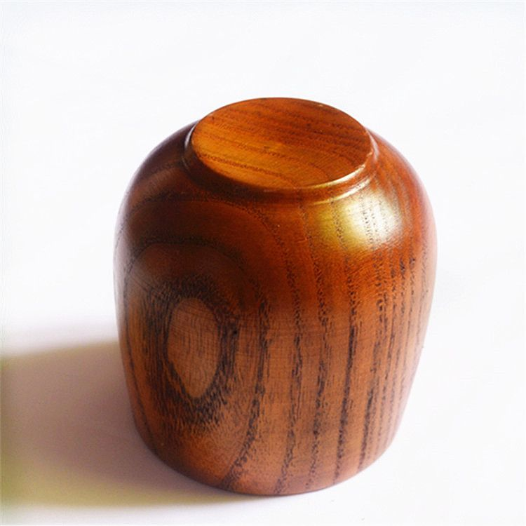 新品上架 简约水杯家用茶杯木质 大肚杯大杯子茶具批发