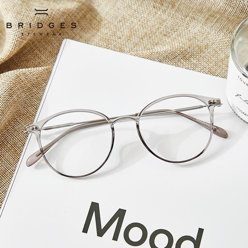 軟妹子素顏鏡女 文藝眼鏡框女近視眼鏡配鏡超輕復古眼鏡框圓框潮